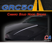 2010-2013 Chevy Camaro Solid Hood Spears Vinyl Stripe Kit (M-GRC50)