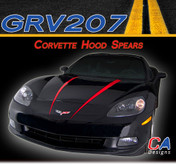 2005-2013 Chevy Corvette Hood Spears Vinyl Stripe Kit (M-GRV207)