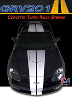 2005-2013 Chevy Corvette Taper Rally Racing Vinyl Stripe Kit (GRV201)