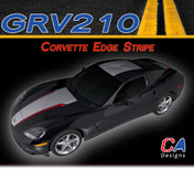 2005-2013 Chevy Corvette Edge Dual Color Rally Racing Vinyl Stripe Kit (GRV210)