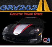 2005-2013 Chevy Corvette Venom Dual Color Rally Racing Vinyl Stripe Kit (GRV202)