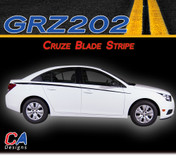 2011-2015 Chevy Blade Racing Vinyl Stripe Kit (M-GRZ202)