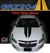 2011-2015 Chevy Cruze Hood Spears Vinyl Stripe Kit (M-GRZ204)