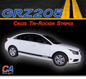 2011-2015 Chevy Cruze Tri-Rocker Vinyl Stripe Kit (M-GRZ205)