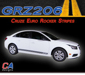 2011-2015 Chevy Cruze Euro Rocker Vinyl Stripe Kit (M-GRZ206)