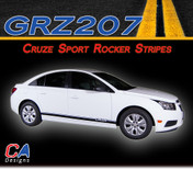 2011-2015 Chevy Cruze Sport Rocker Vinyl Stripe Kit (M-GRZ207)