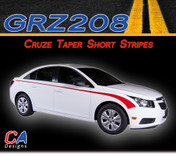 2011-2015 Chevy Cruze Taper Short Vinyl Stripe Kit (M-GRZ208)