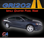 2014-2015 Chevy Impala Quarter Panel Name Accent Vinyl Graphic Decal Stripe Kit (M-GRI202)