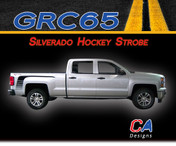 2014-2015 Chevy Silverado Hockey Strobe Vinyl Graphic Decal Stripe Kit (M-GRC65)