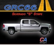 "2014-2015 Chevy Silverado ""S"" Vinyl Graphic Decal Stripe Kit (M-GRC66)"