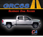2014-2015 Chevy Silverado Dual Rocker Vinyl Graphic Decal Stripe Kit (M-GRC68)