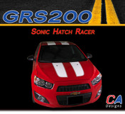 2012-2015 Chevy Sonic Hatch Racer Vinyl Stripe Kit (M-GRS200)