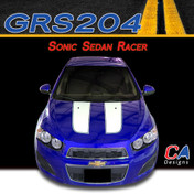 2012-2015 Chevy Sonic Sedan Racer Vinyl Stripe Kit (M-GRS204)