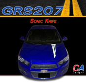 2012-2015 Chevy Sonic Knife Vinyl Stripe Kit (M-GRS207)