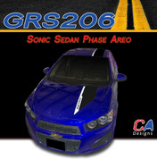 2012-2015 Chevy Sonic Sedan Phase Areo Dual Color Vinyl Stripe Kit (GRS206)