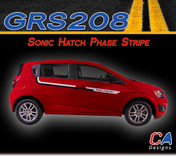 2012-2015 Chevy Sonic Hatch Phase Dual Color Vinyl Stripe Kit (M-GRS208)