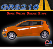 2012-2015 Chevy Sonic Wedge Strobe Vinyl Stripe Kit (M-GRS216)