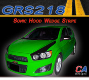 2012-2015 Chevy Sonic Hood Wedge Vinyl Stripe Kit (M-GRS218)