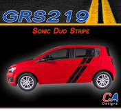 2012-2015 Chevy Sonic Duo Vinyl Stripe Kit (M-GRS219)