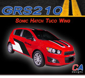 2012-2015 Chevy Sonic Hatch Tuco Wing Vinyl Stripe Kits (M-GRS210)