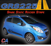 2013-2015 Chevy Spark Static Rocker Vinyl Stripe Kit (M-GRS225)
