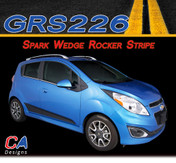2013-2015 Chevy Spark Wedge Rocker Vinyl Stripe Kit (M-GRS226)