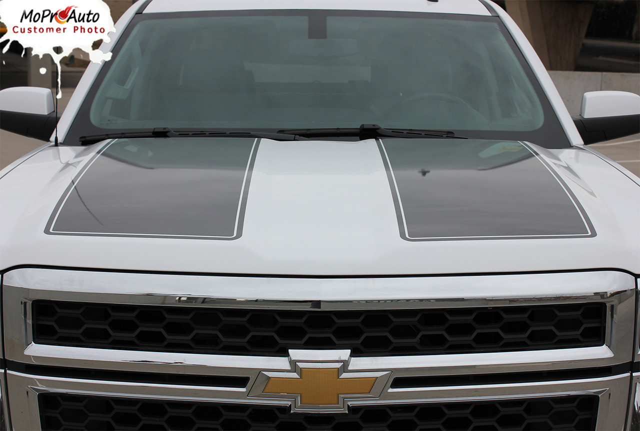 Rally 1500 2014 2015 Chevy Silverado Vinyl Graphic Decal Rally Edition Style Racing Stripe Kit