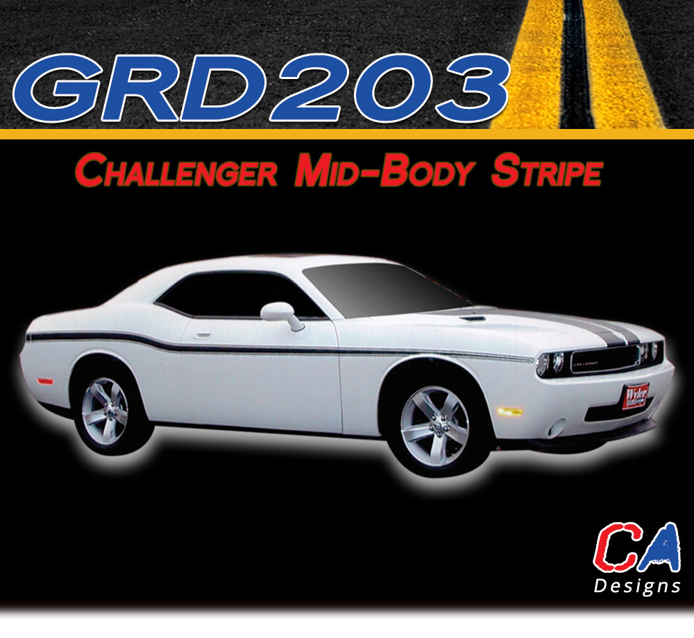 2008 2015 dodge challenger lower body stripe kit m grd203 366