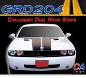 2008-2010 Dodge Challenger Dual Hood Stripe Kit (M-GRD204)