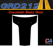 2011-2014 Dodge Challenger Single Hood Vinyl Stripe Kit (M-GRD212)