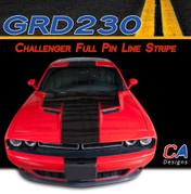 2015 Dodge Challenger Full Pin Line Center Vinyl Stripe Kit (M-GRD230)