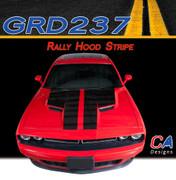2015-2018 Dodge Challenger Rally Hood Vinyl Stripe Kit (M-GRD237)