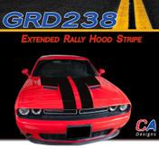 2015-2018 Dodge Challenger Extended Rally Hood Vinyl Stripe Kit (M-GRD238)