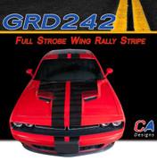 2015 Dodge Challenger Full Strobe Wing Rally Vinyl Stripe Kit (M-GRD242)