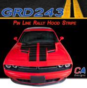 2015-2018 Dodge Challenger Pin Line Rally Hood Vinyl Stripe Kit (M-GRD243)