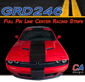 2015 Dodge Challenger Full Pin Line Center Racing Vinyl Stripe Kit (M-GRD246)