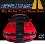 2015-2018 Dodge Challenger Full Pin Line Center Racing Vinyl Stripe Kit (M-GRD246)