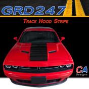 2015-2018 Dodge Challenger Track Hood Vinyl Stripe Kit (M-GRD247)