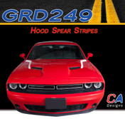 2015 Dodge Challenger Hood Spears Vinyl Stripe Kit (M-GRD249)