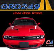 2015-2018 Dodge Challenger Hood Spears Vinyl Stripe Kit (M-GRD249)