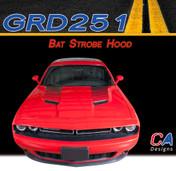 2015-2018 Dodge Challenger Bat Strobe Hood Vinyl Stripe Kit (M-GRD251)