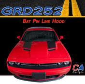 2015 Dodge Challenger Bat Pin Line Hood Vinyl Stripe Kit (M-GRD252)