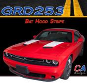 2015-2018 Dodge Challenger Bat Hood Vinyl Stripe Kit (M-GRD253)