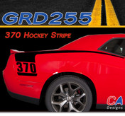 2015 Dodge Challenger 370 Hockey Stripe Vinyl Stripe Kit (M-GRD255)