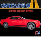 2015-2018 Dodge Challenger Strobe Lower Rocker Stripe Vinyl Stripe Kit (M-GRD258)