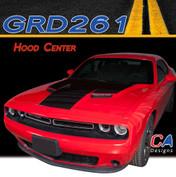 2015-2018 Dodge Challenger Hood Center Vinyl Stripe Kit (M-GRD261)