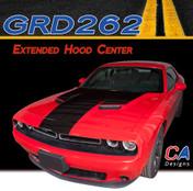 2015-2018 Dodge Challenger Extended Hood Center Vinyl Stripe Kit (M-GRD262)