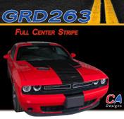 2015-2018 Dodge Challenger Full Center Vinyl Stripe Kit (M-GRD263)