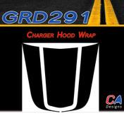 2006-2010 Dodge Charger Wrap Hood Vinyl Stripe Kit (M-GRD291)