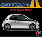 2010-2015 Fiat 500 Upper Check Side Vinyl Stripe Kit (M-GRT201)